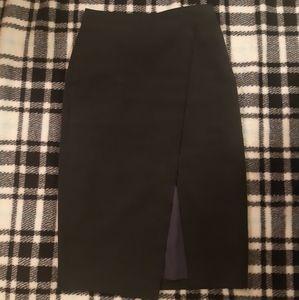 Aritzia Babaton Size 4 Asymmetric Slit Skirt